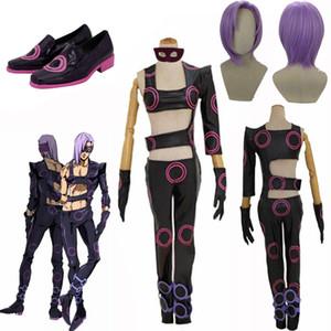del animado JoJo Bizarre Adventure JoJo Melone cosplay Melone Zapatos peluca cosplay