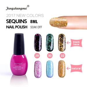 fengshangmei 8ml Shining Nail Gel Polish Long Lasting UV Nail Gel DIY Glitter Varnish for Nails