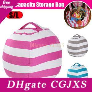 6 colori di pulizie sacchetti di immagazzinaggio Bean Bag Chair notte bambini Giocattoli farciti animali vestiti 10pcs di trasporto