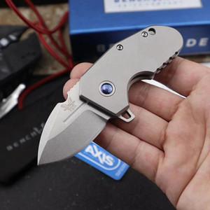 Benchmade BM756 Mini Folding Pocket Knife M390 Titanium Handle EDC Outdoor Tactical Knife Hiking Camping Pocket Knives