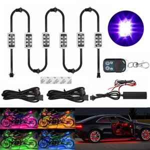 Motorrad / Auto Atmosphäre Licht 6 RGB 36 LED mit drahtloser Fernbedienung intelligente Bremsleuchten Moto Zierleiste Neon-Lampe Kit