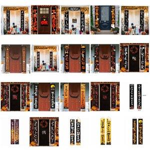 Halloween Couplet Flag Banner Wall Pendants Door Hanging Couplets Halloween Party Supplies Outdoor Garden Party Decoration DWD1077
