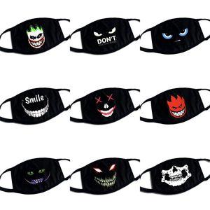 Nazar Kafatası mascarilla Siyah Yüz Maskeleri Yıkanabilir Solunabilir Respiratörü Karşıtı Yeniden kullanılabilir Moda Yetişkin Çocuk 3 5bba C2 Duman