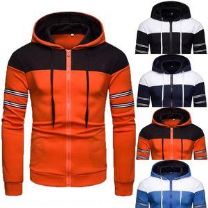 Autumn and Winter European fashion cardigan size men's casual Coat Hoodie sweater coat new hoodie men's sweater