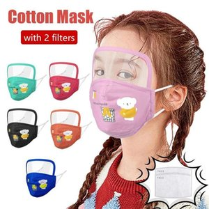 New Children Face Mask With Eye Shield Washable Foldable Protective Glass Breathing With Valve With 2pcs Filters Fast Shipping FY9162