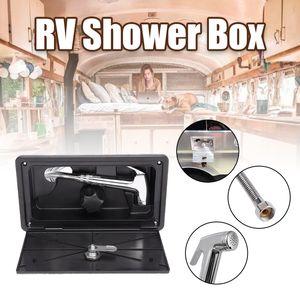 1 Set RV Shower Box Kit External With Lock Boat Marine Camper Includes Shower Faucet Motorhome Caravan Accessories Hose