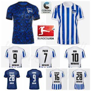 2020 2021 Hertha BSC Soccer Jersey 7 PIATEK 28 LUKEBAKIO 10 DUDA 16 DILROSUN 9 CUNHA 17 MITTELSTADT Hertha Berlin Football Kits shirt