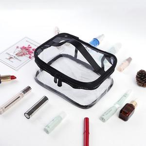 Yeni Moda Kadın Temizle Su geçirmez Makyaj Depolama Seyahat Yıkama Çantası Lady Şeffaf Kozmetik Çantası ücretsiz gönderim