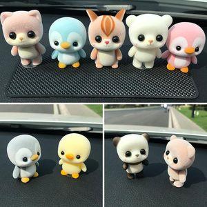 Lovely Cartoon animals Garage Kit Children's Toys Doll