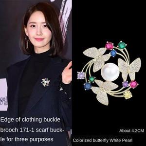 бабочка бабочка контактный венок брошь корейский стиль ювелирных изделий костюм штыря инкрустированные высокого класса брошку