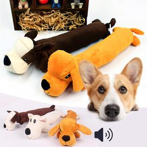 Cat Dog Pet engraçado velo Durabilidade Dog Plush Toys Squeak Chew Som brinquedo Fit para todos os animais cão longo Pelúcia