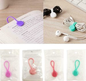 Magnetic Cable Clip Organizer Wire Cord Management Line Silicone Winder Multi-function Phone Key Cord Clip Storage Holder KKA8110