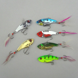 6pcs lot 12g 5.5cm fishing lures set spoon china Metal VIB sequins Fish hard bait bass vibration lure crankbait