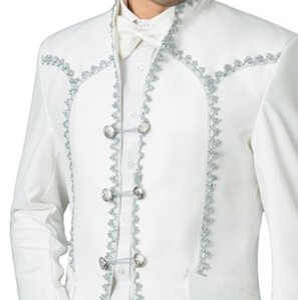 Custom groomsman white tuxedo groom lapel men's suit wedding   prom best men's suit 3 pieces (jacket + pants +Girdle)