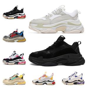 Wholesal Дизайнерская Обувь Мода Paris 17FW Triple S Кроссовки Повседневная Папа Обувь для мужчин Женщин Черный розовый белый Спортивные кроссовки Размер 36-45