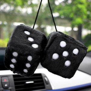 2020 New Stylish Soft Plush Cute Dice Car Hanging Ornament Rear Mirror Decorative Pendant New hot sale