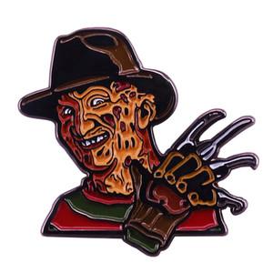 Freddy Krueger Slasher Hand Enamel Pin Great Gift for Nightmare on Elm Street Fans