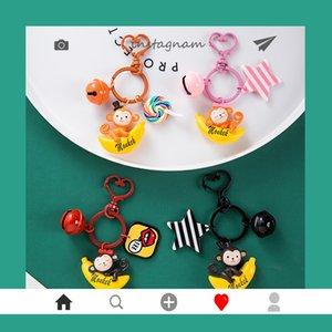 Nette Karikatur-Affe-Abbildung Puppen Keychain Kinder spielen Schlüsselanhänger für Frauen-Mädchen-Beutel-Rucksack-Charme-Anhänger Auto-Halter Schmuck