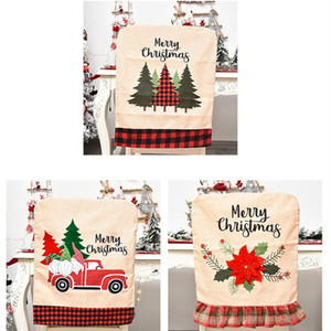 Neue Weihnachtsdekorationen Leinen Auto Weihnachtsbaum Blume Auto Stuhlabdeckung zu Hause Stuhl Kissenbezug Partei T2I51356 Supplies