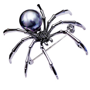 European hot-selling brand fashion personality imitation pearl spider brooch jewelry temperament women coat sweater brooch high-end gift pin