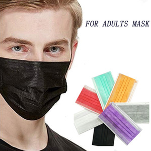 Million pièces en stock! A + qualité à usage unique masque facial design d'emballage de détail élastique boucle d'oreille 3 Ply de protection respirant et confortable