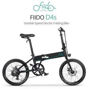 [UE Direct] FIIDO D4S 10.4Ah 36V 250W 20 pouces pliant Fat Ebike Cyclomoteur Vélo 25 kmh Vitesse maximale 80KM Kilométrage vélo électrique