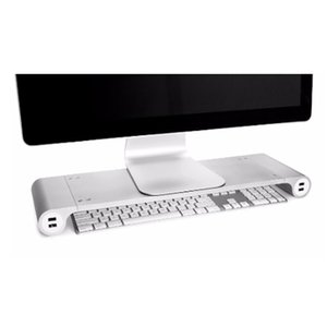 Smart 4 USB Charging Dock Metal Holder Charger Monitor Heighten Stand Spacebar PC Holder Laptop Rack Display Charging Bracket