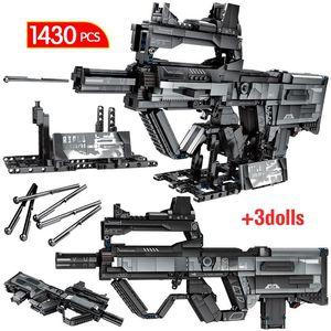 Gun Wandering jogo para Arma Edifício Modelo Diy Brinquedos Crianças Tijolos Blocos de assalto 364pcs Rifle Technic Earth City aCSpa