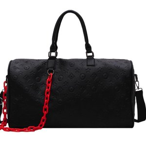 Women Travel Bag Leather Luggage Bags Travelling Black Luggage Large Capacity Handbag Hot Sale Men Travel Shoulder Bags outdoor 200921