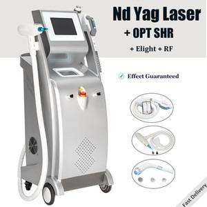 Freies Verschiffen Nd-Yag-Laser Tattooentfernung IPL Haarentfernung Maschine Akne Sommersprosse Behandlung mit großer RF Falten entfernen Geräten Punktgröße