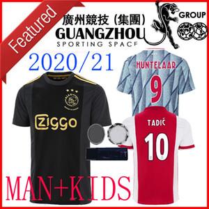 2020 Ajax FC Hauptkindfußball Jersey 20 21 2021 dritte weg schwarzes Kind PROMES VAN DE BEEK CUP LEAGUE NERES TADIC ZIYECH Afc Jersey Hemden
