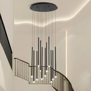 LED-Zweig Kronleuchter einfacher moderne duplex rotierende Treppe Kronleuchter Halle Licht kreative Persönlichkeit Raum Kronleuchter lebt