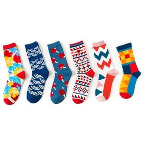 New Designer Men and Women Colour British Wind Socks Individual Couple Cotton Socks Tide Socks Wholesale