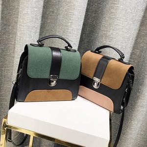 Hombro ulzzang Cross Body Bag Scrub color contrastante bolso femenino 2020 del resorte del modelo nuevo estilo coreano elegante portátil Bolsa de moda