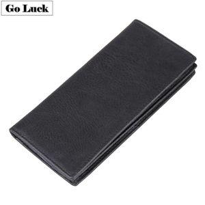 Genuine Leather Business Wallet Men Credit ID Cardholder Wallets Men's Bill Purse Mobile Phone Pounch Passport Cover Clutch Bag