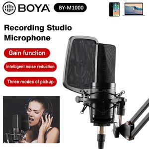 BOYA BY-M1000 Professional Большой микрофон Kit Всенаправленно двухслойный фильтр крепление для Singer записи