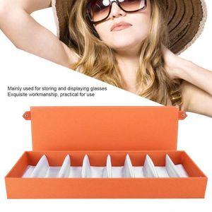 8 Grids Portable Glasses Display Case Travel Sunglasses Storage Case Organizer