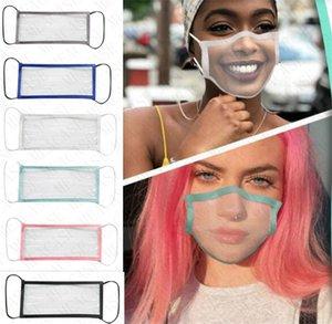Mit Clear Window-Gesichtsmaske Mode Visible Lippengesichtsmasken Gesichtsschutz Lippenausdruck Lippenlesen Masken für Deaf Mute Beeinträchtigte D8511 Hearing