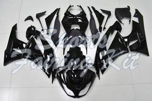 Пластиковые обтекатели для ZX6R 2009 - 2012 глянцевый черный обтекатель Ninja ZX6R 09 10 Body Kits Ninja ZX6R 2010