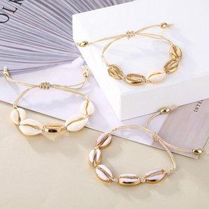Bohème Vintage Shell Corde Bracelet chaîne Femmes Sea Beach Shell Bracelet cheville Bijoux Parti du cadeau