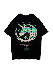 20SS summer men and women couple T-shirt designer men T-shirt fashion T-shirt Hot Products Reflective Unicorn Novel Products3