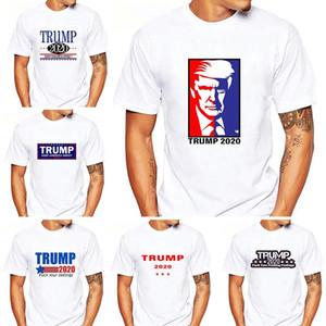 Trump 2020 T-shirt Mantenha América Grande em torno do pescoço de manga curta Unisex Shirts América Eleição Geral de Suprimentos 11 estilos Partido DHF591 Favor