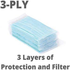 Máscara de envío de DHL Profesión de 3 capas PM2.5 no tejidos desechables elástico boca suave y transpirable cara