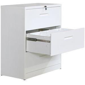 Hohe Qualität Lateral File Cabinet Abschließbare Metal Heavy Duty 3 Drawer Lateral File Cabinet Weiß Nachtschränkchen WF192107KAA
