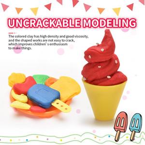 DIY Máquina del helado del molde de arcilla Juego de herramientas Juego de imaginación juguete de barro hecha a mano de la piel Kit de fideos fabricante de cocina de juguete de los niños