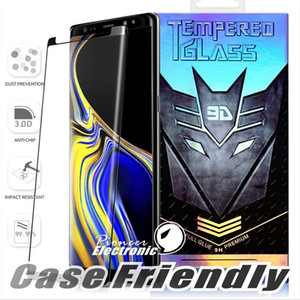 Case Friendly Full Glue Small Version Tempered Glass For Samsung Galaxy Note 10 S10 S9 S8 Plus S7 Edge Note9 3d Curve Clear Screen Protector