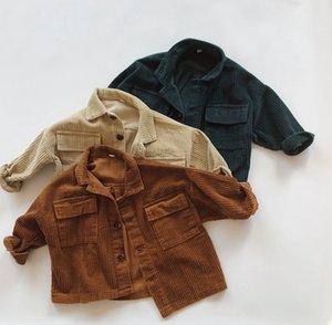 Automne Hiver Enfants Garçons Bébés filles Veste Vêtements Vêtements bébé garçon fille Tops enfant Corduroy Vestes Manteau enfants Manteaux X0923