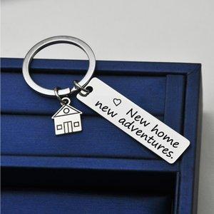 새로운 집에 새로운 모험의 새로운 가정 주택 및 부동산 회사 선물 열쇠 고리 H4