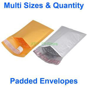 """Multi Dimensioni Quantità Kraft / Poly imbottito Buste Sacchetti Bubble Mailers UTILIZZABILE SIZE 3"""" 4"""" 5"""" x 6"""" 7"""" 8"""" di pollice (75 a 130 mm) * (da 150 a 205 millimetri)"""