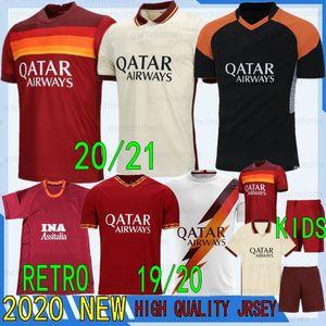 Thai 20 21 AS maillot roma PEROTTI DZEKO soccer jersey DE ROSSI ZANIOLO rome TOTTI PASTORE new jerseys football Men+Kids football shirt